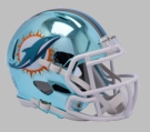 Miami Dolphins - Chrome Alternate Speed Riddell Full Size Deluxe Replica Football Helmet