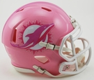 Miami Dolphins Pink Speed Riddell Mini Football Helmet