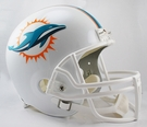 Miami Dolphins Riddell NFL Full Size Deluxe Replica Football Helmet