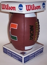 Miami Hurricanes Logo Full Size Football - Wilson F1738