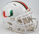 Miami Hurricanes Metallic Speed Revolution Riddell Mini Football Helmet