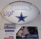 Michael Irvin - Autographed Dallas Cowboys Full Size Logo Football - PSA/DNA