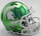 Michigan State Spartans - Chrome Alternate Speed Riddell Mini Football Helmet