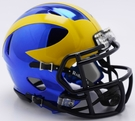 Michigan Wolverines - Chrome Alternate Speed Riddell Mini Football Helmet