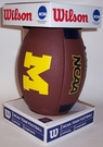 Michigan Wolverines Logo Full Size Football - Wilson F1738
