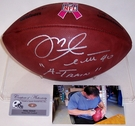 "Mike Alstott - Autographed Official Wilson NFL ""THE DUKE"" Breast Cancer Awerness Football"