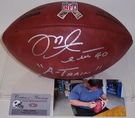 "Mike Alstott - Autographed Official Wilson NFL ""THE DUKE"" Salute to Service Football"