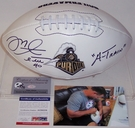 Mike Alstott - Autographed Purdue Boilermakers Full Size Logo Football - PSA/DNA