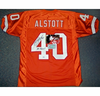 best service ff0d3 f4094 Mike Alstott - Autographed Tampa Bay Bucs Throwback, Orange ...