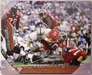 Mike Alstott Autographed Tampa Bay Bucs 16x20 Canvas