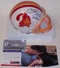 Mike Alstott - Riddell - Autographed Mini Helmet w/A-Train - Tampa Bay Bucs Throwback - PSA/DNA