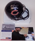 Mike Singletary - Riddell - Autographed Mini Helmet w/SB XX Champs - Chicago Bears - PSA/DNA
