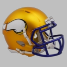 Minnesota Vikings - Blaze Alternate Speed Riddell Mini Football Helmet