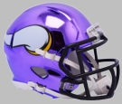 Minnesota Vikings - Chrome Alternate Speed Riddell Mini Football Helmet