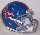 Mississippi Ole Miss Powder Blue Speed Riddell Mini Football Helmet