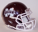 Mississippi State Speed Revolution Riddell Mini Football Helmet