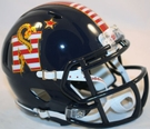 Navy Don't Tread Special Alternate Speed Revolution Riddell Mini Football Helmet