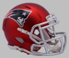 New England Patriots - Blaze Alternate Speed Riddell Mini Football Helmet