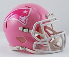 New England Patriots Pink Speed Riddell Mini Football Helmet