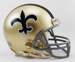 New Orleans Saints 1966-1975 Throwback VSR4 Riddell Mini Football Helmet