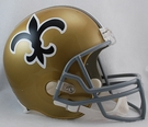 New Orleans Saints 1967-1975 Throwback Riddell NFL Full Size Deluxe Replica Football Helmet