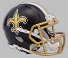 New Orleans Saints - Blaze Alternate Speed Riddell Mini Football Helmet