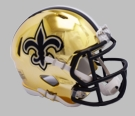 New Orleans Saints - Chrome Alternate Speed Riddell Full Size Deluxe Replica Football Helmet