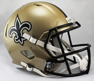 New Orleans Saints Riddell NFL Full Size Deluxe Replica Speed Football Helmet