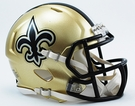 New Orleans Saints Speed Revolution Riddell Mini Football Helmet