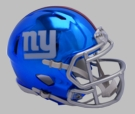 New York Giants - Chrome Alternate Speed Riddell Full Size Deluxe Replica Football Helmet