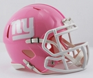 New York Giants Pink Speed Riddell Mini Football Helmet