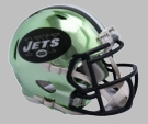 New York Jets - Chrome Alternate Speed Riddell Full Size Deluxe Replica Football Helmet