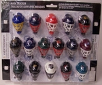 NHL Micro Goalie Mask Standings Tracker Set 31 piece with Display Board