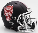 North Carolina State Wolfpack Black Matte Speed Riddell Mini Football Helmet