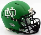 North Dakota Matte Kelly Green Speed Riddell Mini Football Helmet