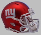 NY New York Giants - Blaze Alternate Speed Riddell Mini Football Helmet