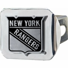 "NY New York Rangers NCAA 2"" Chrome Metal Tow Hitch Receiver Cover 3D"