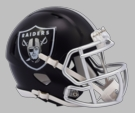 Oakland Raiders - Blaze Alternate Speed Riddell Mini Football Helmet