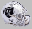Oakland Raiders - Chrome Alternate Speed Riddell Mini Football Helmet