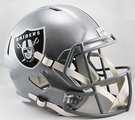 Oakland Raiders Riddell NFL Full Size Deluxe Replica Speed Football Helmet