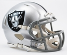 Oakland Raiders Speed Revolution Riddell Mini Football Helmet
