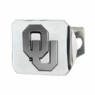 "Oklahoma Sooners NCAA 2"" Chrome Metal Tow Hitch Receiver Cover 3D"