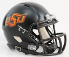 Oklahoma State Cowboys Black Matte Finish Speed Revolution Riddell Mini Football Helmet