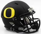 Oregon Ducks Matte Black Speed Riddell Mini Football Helmet