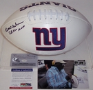 Ottis Anderson - Autographed New York Giants Full Size Logo Football - PSA/DNA