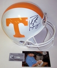 Peyton Manning - Autographed Full Size Riddell Deluxe Replica Football Helmet - Tennessee Vols