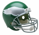 Philadelphia Eagles 1974-1995 Throwback Riddell NFL Full Size Deluxe Replica Football Helmet