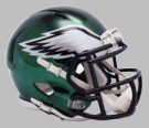 Philadelphia Eagles - Chrome Alternate Speed Riddell Mini Football Helmet