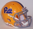 Pittsburgh Panthers Gold Throwback Speed Riddell Mini Football Helmet