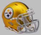 Pittsburgh Steelers - Blaze Alternate Speed Riddell Mini Football Helmet
